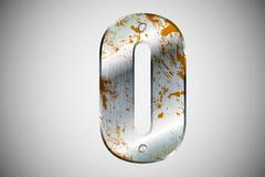 Metal letters of the alphabet Stock Illustration