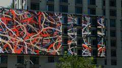 4K, UHD, Digital electronic billboard in Los Angeles, BlackMagic Camera Stock Footage