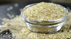 Portion of sesame seeds (not loopable) Stock Footage