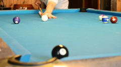 Man play billiard 1080p - stock footage