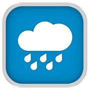 Cloudy with considerable amount of rain sign Stock Photos