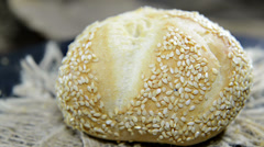 Sesame buns (loopable video) Stock Footage