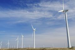 wind energy - stock photo