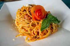 Indonesia, island of bali, typical balenese food called mie goreng served in Stock Photos
