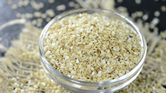 Portion of sesame seeds (loopable) Stock Footage