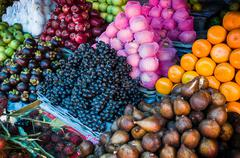 Fruit and vegetable market in lombok, indonesia Stock Photos