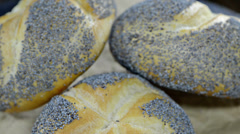 Poppyseed buns (not loopable) Stock Footage