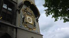 France, Paris, clock on Conciergerie castle. Stock Footage