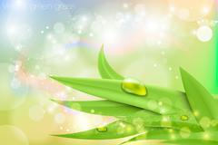 Vector background in pastel colors with green grass Stock Illustration