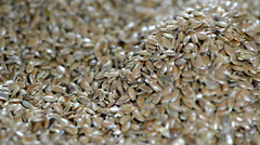 Flaxseed background (loopable) Stock Footage