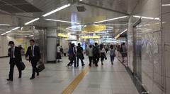 Tokyo's Oshiage metro station near Skytree tower Stock Footage