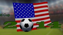 FIFA World Cup 2014 - Summary all flag - stock footage