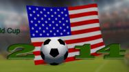 Stock Video Footage of FIFA World Cup 2014 - Summary all flag