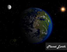 Beautiful planet earth Stock Illustration