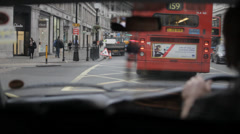 London Taxi Mayfair 2 Stock Footage