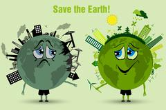 Saving the earth. ecology concept Stock Illustration