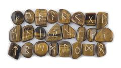 Set of Rune Stones Stock Photos