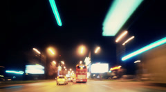 Timelapse Traffic at Night 4K Stock Footage