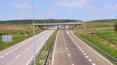 Highway in Vojvodina region, Serbia Stock Footage