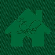 House sale advertisement Stock Illustration