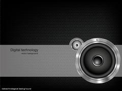 Background with speaker and music bar Stock Illustration
