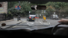 London Taxi Mayfair 8 Stock Footage