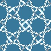 Seamless nautical rope pattern Stock Illustration