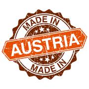 made in austria vintage stamp isolated on white background - stock illustration