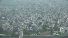 Dense aerial view of Tokyo Stock Footage