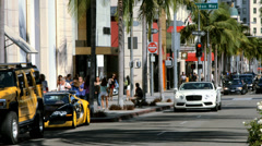 Rodeo Drive, Beverly Hills, Los Angeles, California - BlackMagic 4K Camera - stock footage
