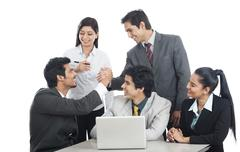 Business executives celebrating their success Stock Photos