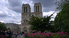 France, Paris, cathedral Notre Dame de Paris. Stock Footage