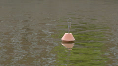 A buoy floating in the sea fs700 odyssey 7q Stock Footage