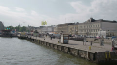 The view of the helsinki market fs700 odyssey 7q Stock Footage
