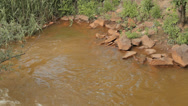 Stock Video Footage of Water pollution. Dirty water. Rust water.