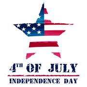 Star in usa drawing flag and 4th of july - american independence day Stock Illustration