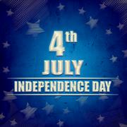 4th of july - american independence day - blue retro banner Stock Illustration