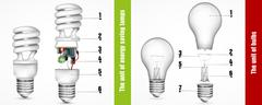 The unit of energy-saving lamps Stock Illustration