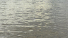 Water level with small waves 1080p - stock footage