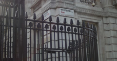 Downing St & Whitehall signs 4K Stock Footage