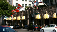 Beverly Wilshire Hotel in Los Angeles, California - BlackMagic 4K Camera Stock Footage