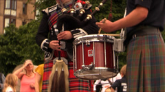 Bagpipe band - audio Stock Footage