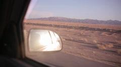 Roadside Mirror & Mountain Stock Footage