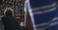 Downing Street with out focus tourists 4K Stock Footage