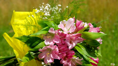 Bouquet of flowers - stock footage