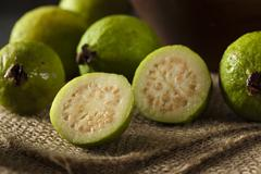 fresh organic green guava - stock photo