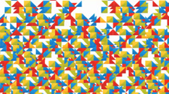 Triangular Patterns overlapping Transition Stock Footage