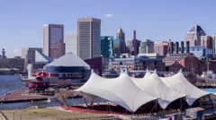 Baltimore Inner Harbor Time Lapse - stock footage