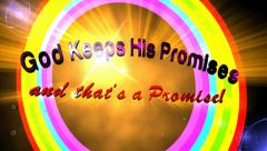 God Keeps His Promises Encouragement and Blessing Animation Stock Footage