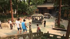 Lingyin Temple Hangzhou China 2 30 Stock Footage
